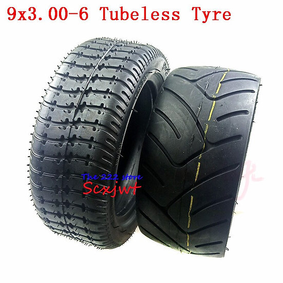 9x3.00-6 Vacuum Wear-Resistant Tire for Gas Electric Scooter Modified Tire.