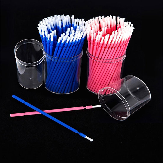 100 Pcs Dental Disposable Micro Brush Dupont Bristle Teeth Whitening