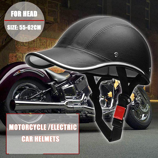 1Pcs Motorcycle Half Helmet Electric Bike Hard Hat Baseball Cap StyleHelmet