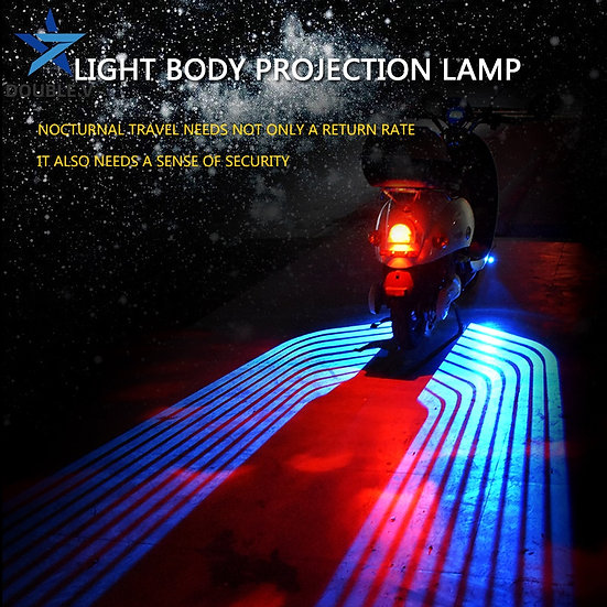 Universal Motorcycle Projection Lamp Wings of the Angel Motorcycle Modification