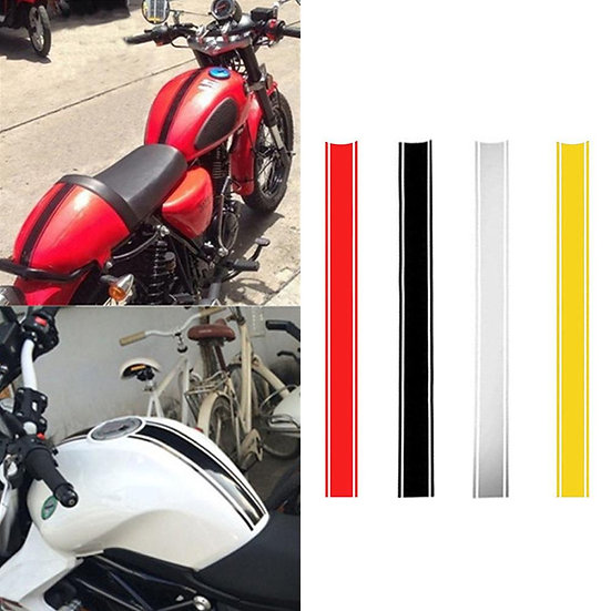 1pcs 500*45mm Motorcycle Reflective Sticker Fuel Oil Tank Pad   Waterproof