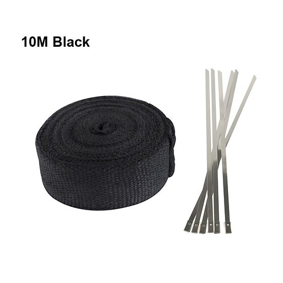 Free Shipping Motorcycle Exhaust Thermal Exhaust Tape Header Heat Wrap Resistan