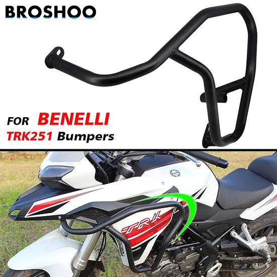 BROSHOO 1 Pair Motorcycle Engine Bumper Guard Crash Bars Protector Steel.