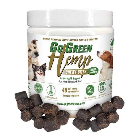 GoGreen Hemp CBD Dog Soft Chew Bites
