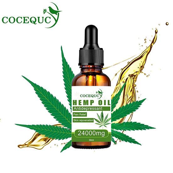 100% Natural 30ml 24000mg Hemp Seeds Oil Extract  Relief Organic CBD Oil