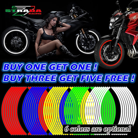 16 Strips Reflective Motocross Bike Motorcycle Sticker for 14' 18' Motorcycle