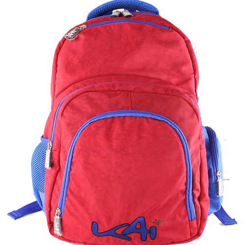 Kai Essentials Backpack - Blue & Red