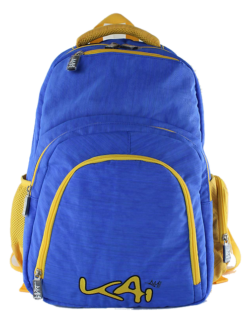 Kai Essentials Backpack - Blue & Yellow