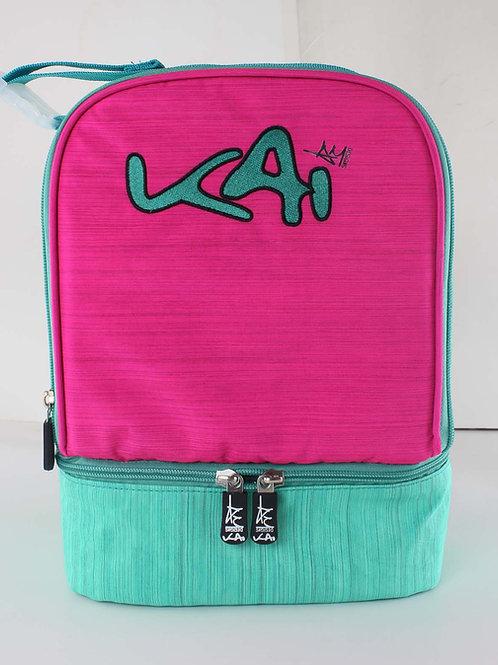 Kai Essentials Lunch Box - Pink & Aqua