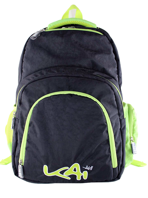 Kai Essentials Backpack - Black & Neon Yellow