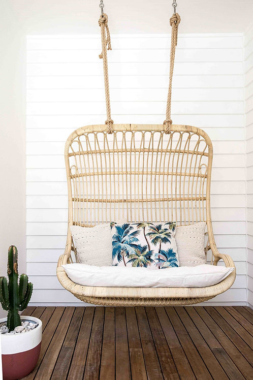 CasaSol Rattan Double Hanging Chair