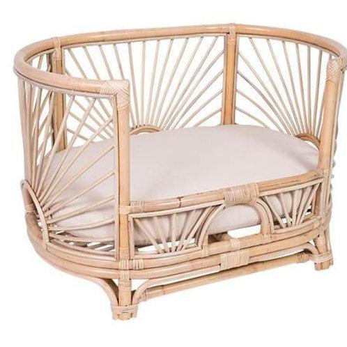 CasaSol Rattan Sunbeam Dog Bed