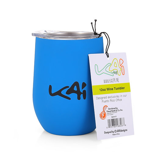90's Kid Blue 12oz Insulated Wine Cup
