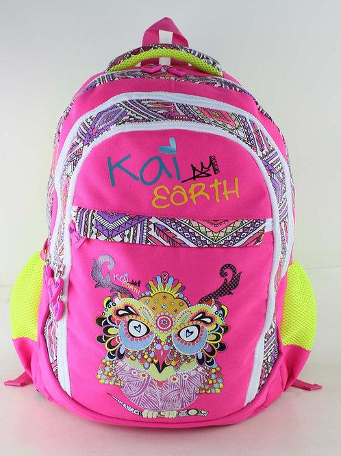 Kai Earth Doodle Owl Backpack