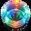 "Thumbnail: Aschenbecher ""Hanfblatt"" mit LED, Glas, 8,5cm"
