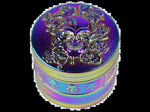 """Grinder """"Floral Skull"""", 4-tlg., 4,4 cm x 5 cm"""