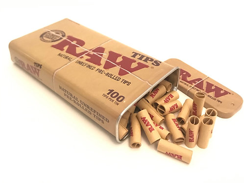 RAW - Filter Tips Prerolled, 100er Dose