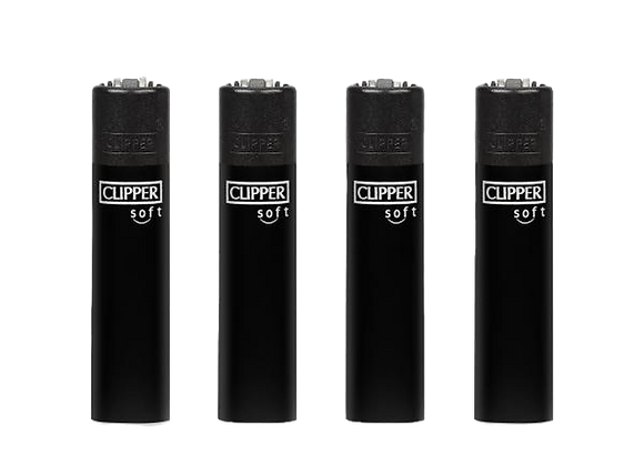 """Clipper Large """"UNI"""" ALL BLACK Soft Touch"""