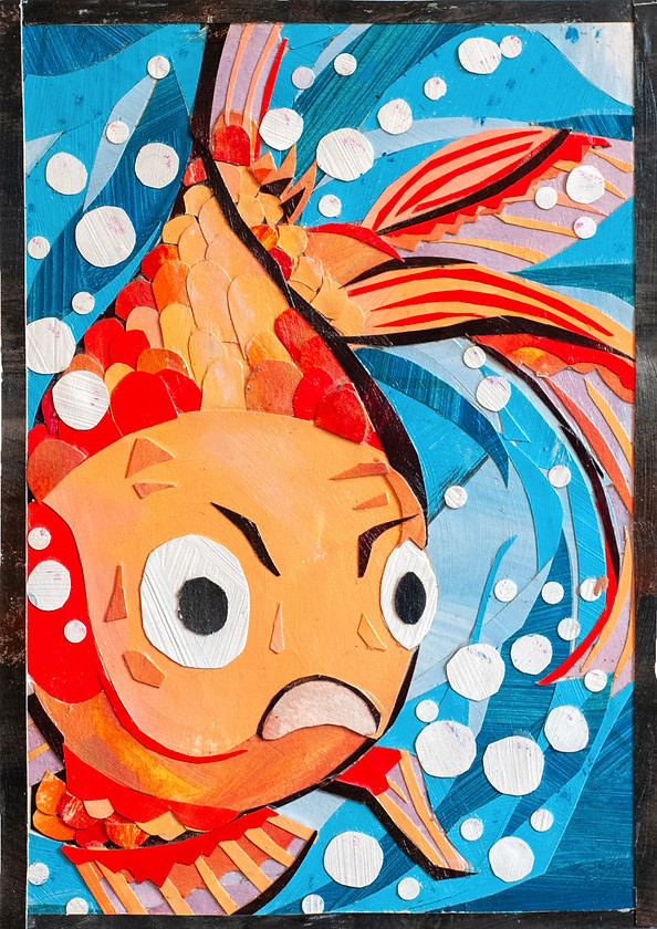 Collages, collage, Gary Gold, Goldfish,
