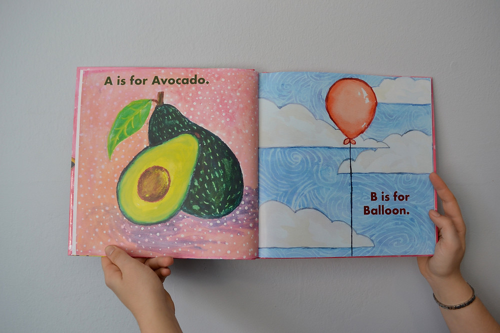ABC Book, watercolor, children's illustration
