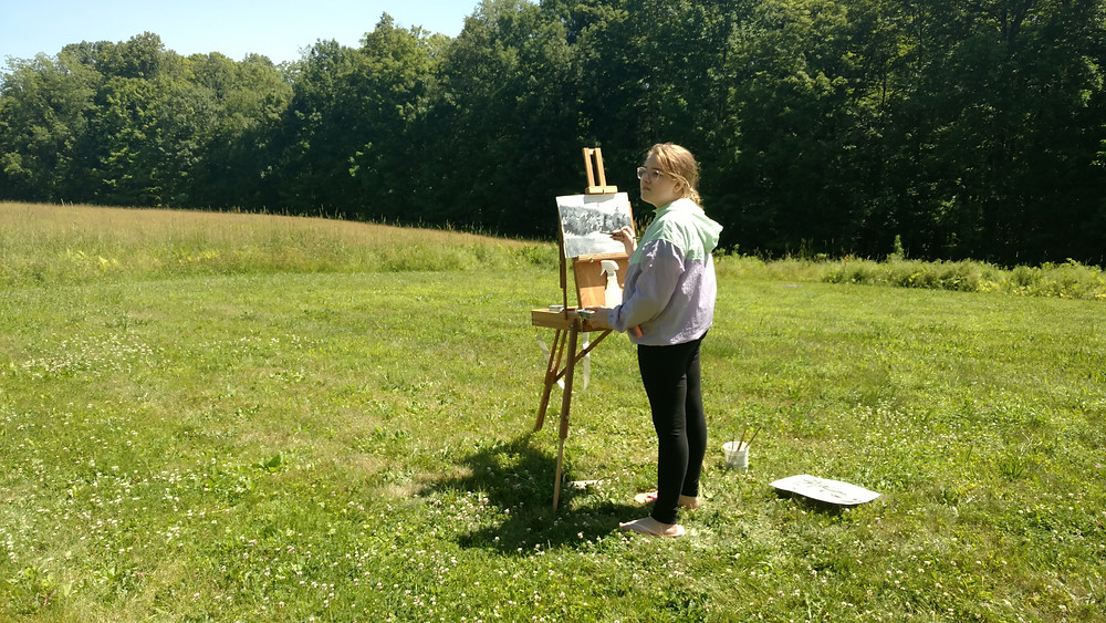 Painting at Snow Farm Summer Program, MA