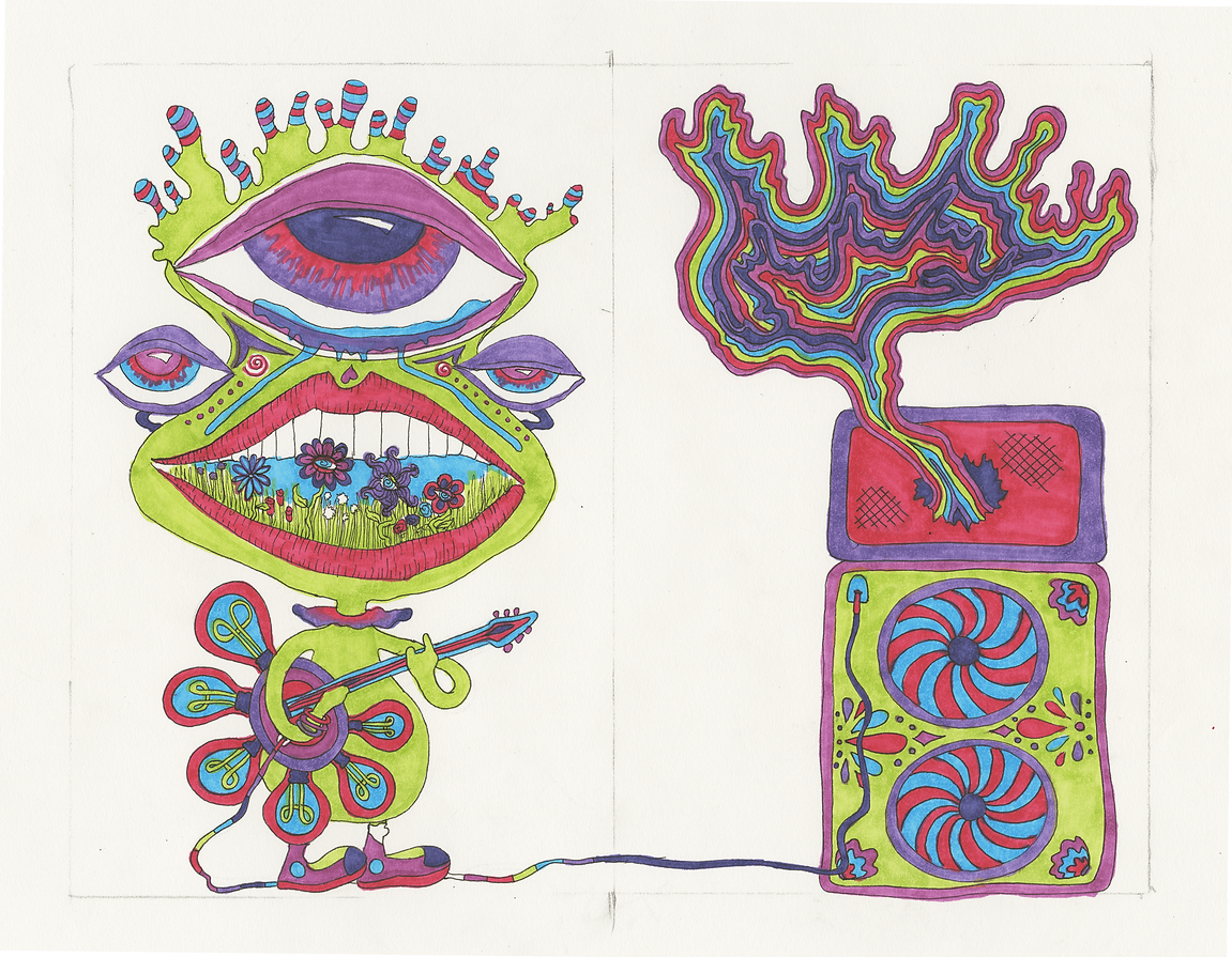 """It Shreds"" (2017) - marker, ink"
