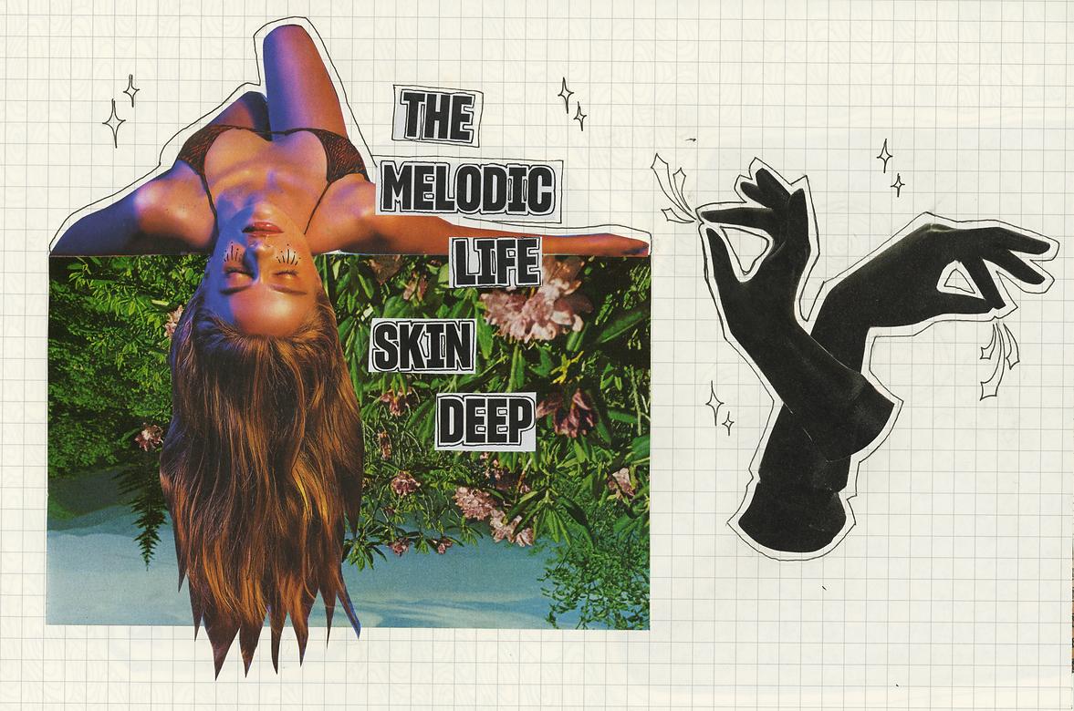 """Skin Deep"" (2019) - ink, collage"
