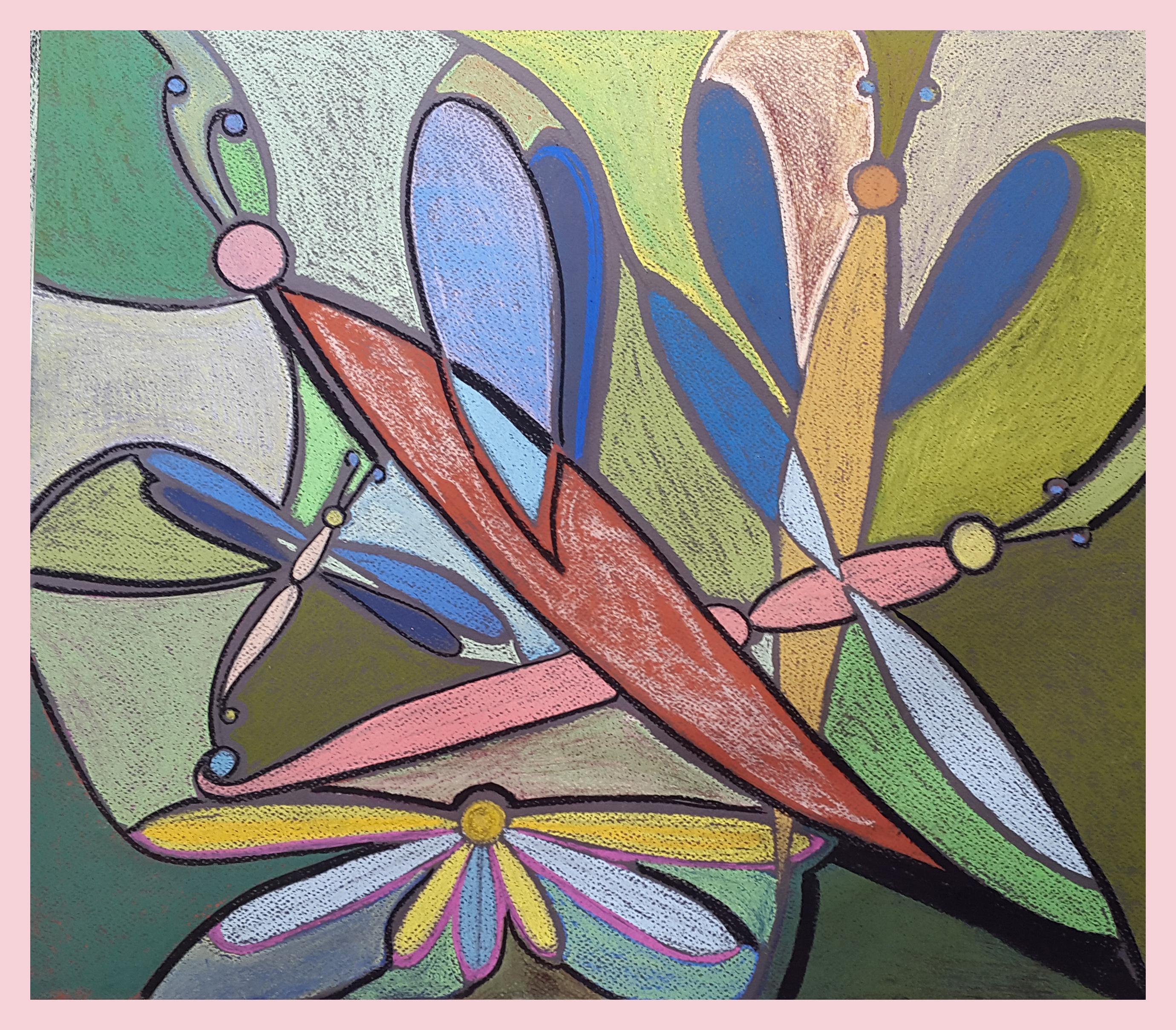 """""""Dragonflies"""", 50x46cm"""
