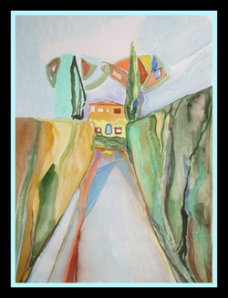 """""""A house in Tuscany"""",37cmX26cm"""