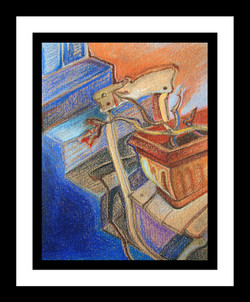 """Pelargonium on a Chair"", 27x37cm"