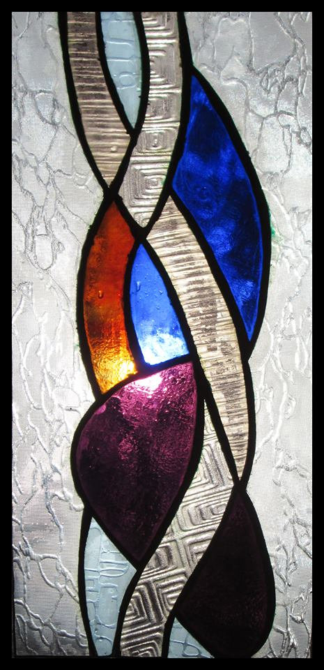 """Vine"",stained glass, 30x80cm 2015 Public Collection"