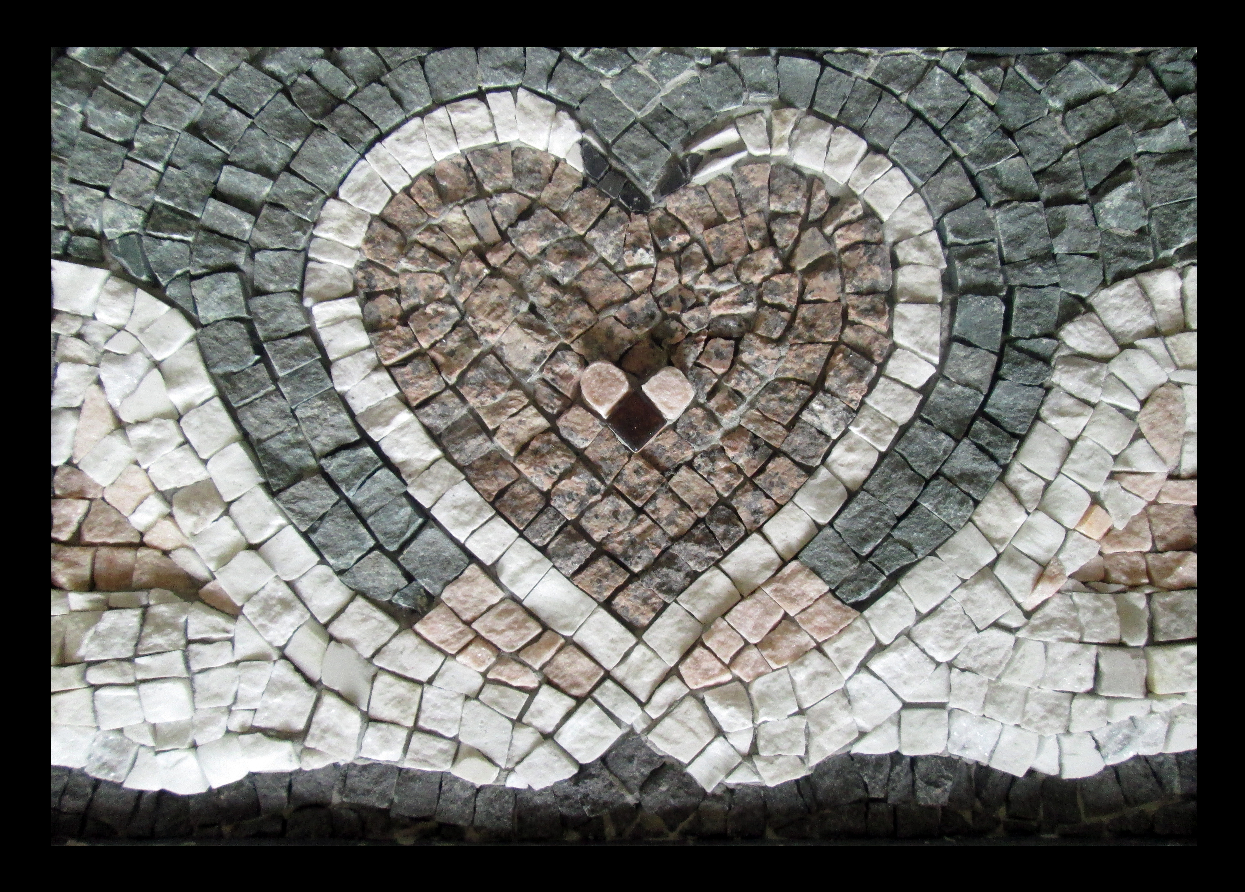 """Swans"", stone mosaics, 50X35cm"