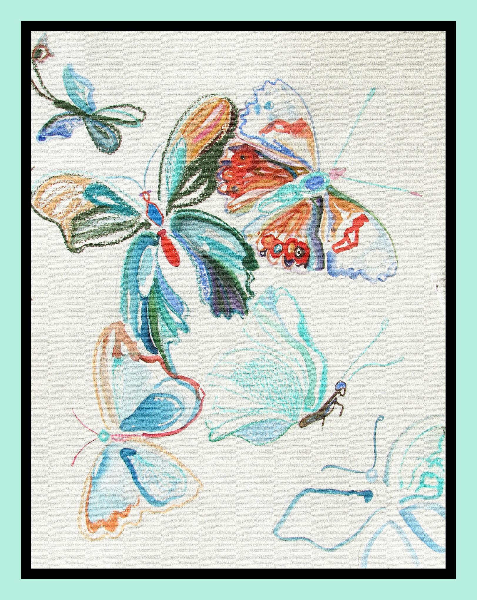 """""""Butterflies"""" 37cmX26cm"""