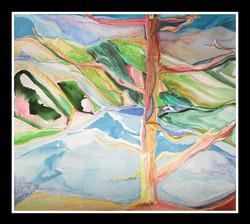 """Pancharevo Lake"", 68x62cm"