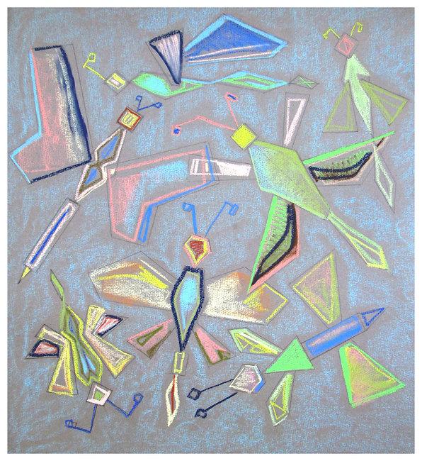 """""""Summer Butterflies"""", 50x45cm, 2017"""