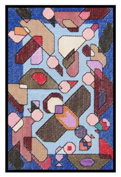 """Birds fishing"", tapestry, 35x25cm"
