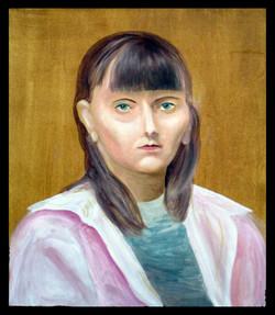 """Portrait of a girl"", 55x46cm"