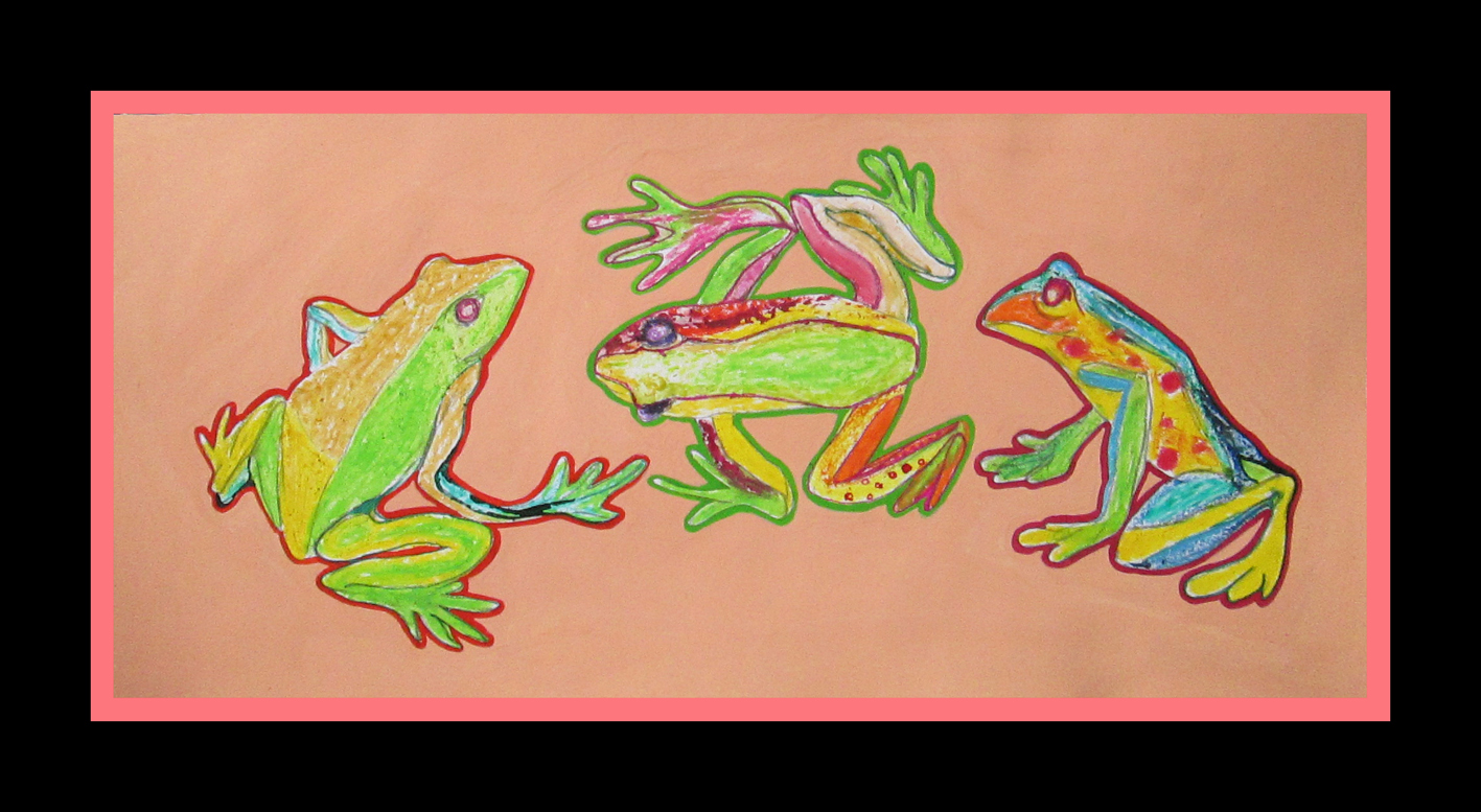 """Tropical Frogs"", 34cmX16cm"