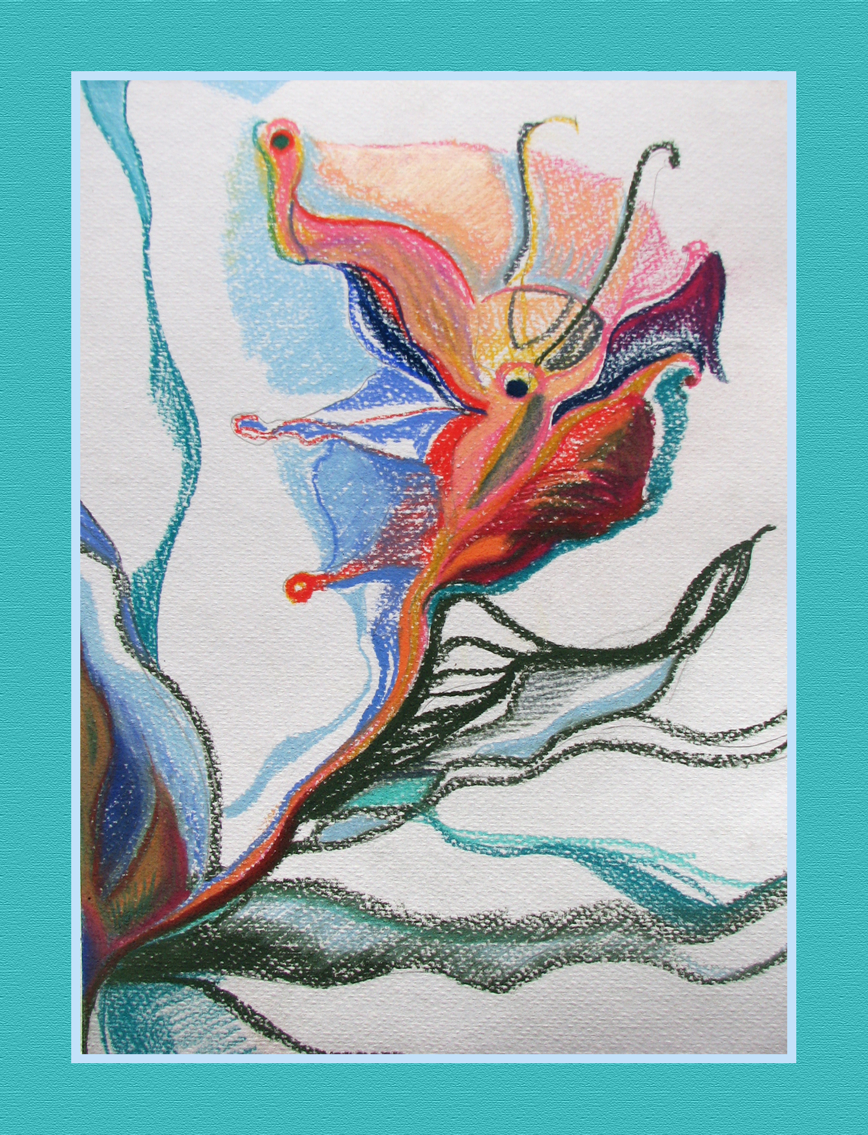 """Flower of the Lake Bottom""37cmX26cm"
