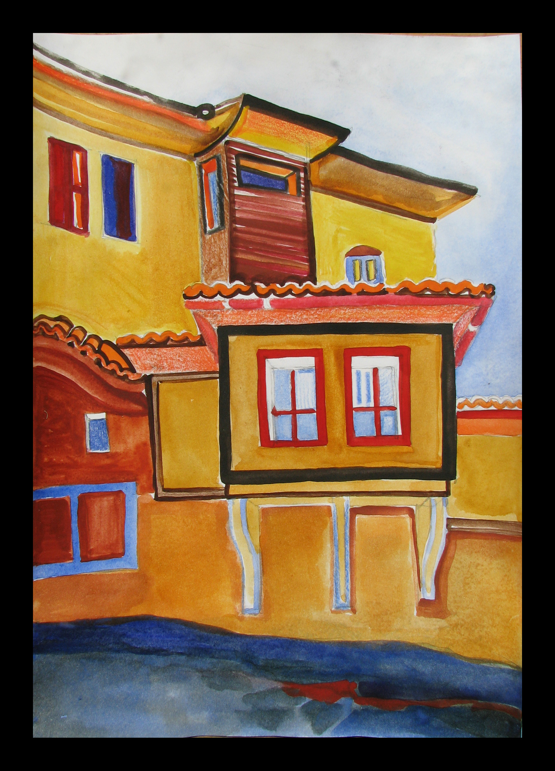 """The Old Town of Plovdiv"" 31cmX23cm"