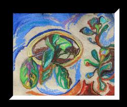 """Plants in a pot"", 30x24cm"