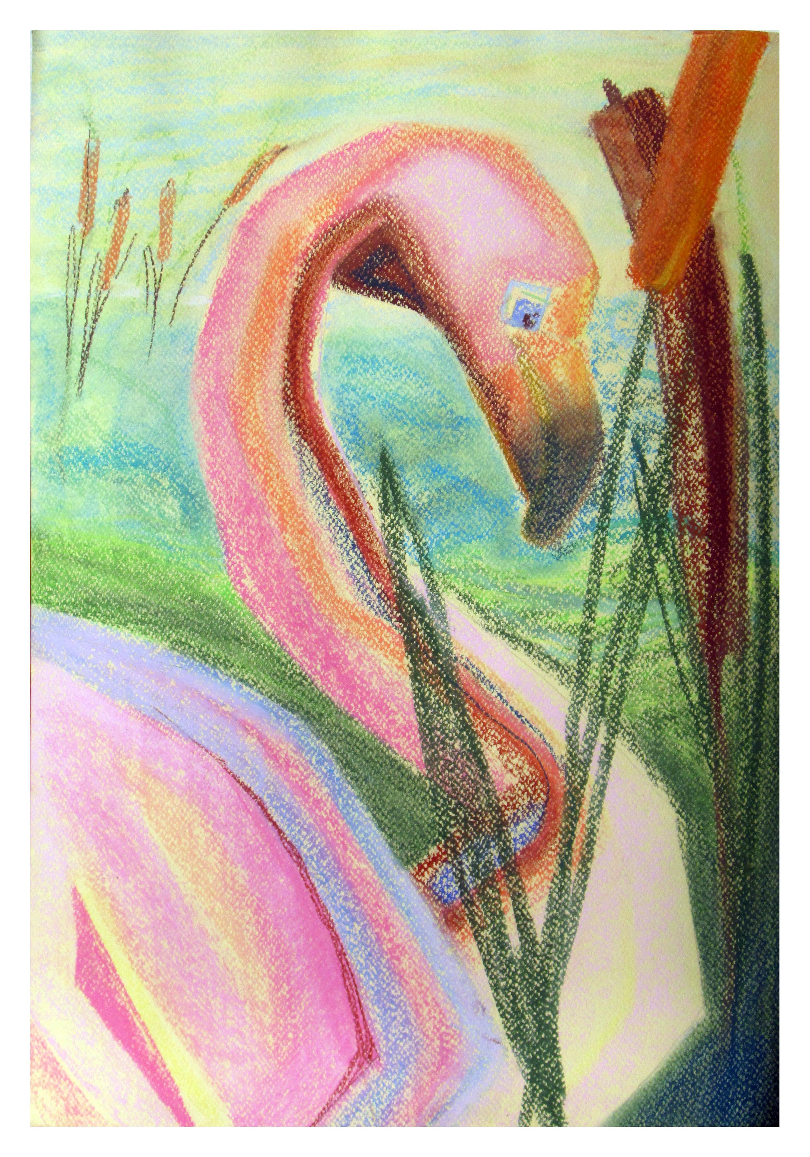 """Flamingo"" 70cmX50cm"