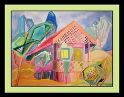 """Countryside bungalow"" 37cmX28cm"