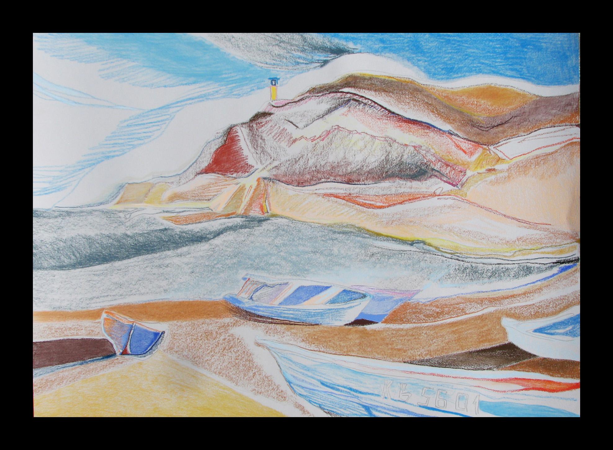 """Shabla Lagoon - boats""100cmX70cm"