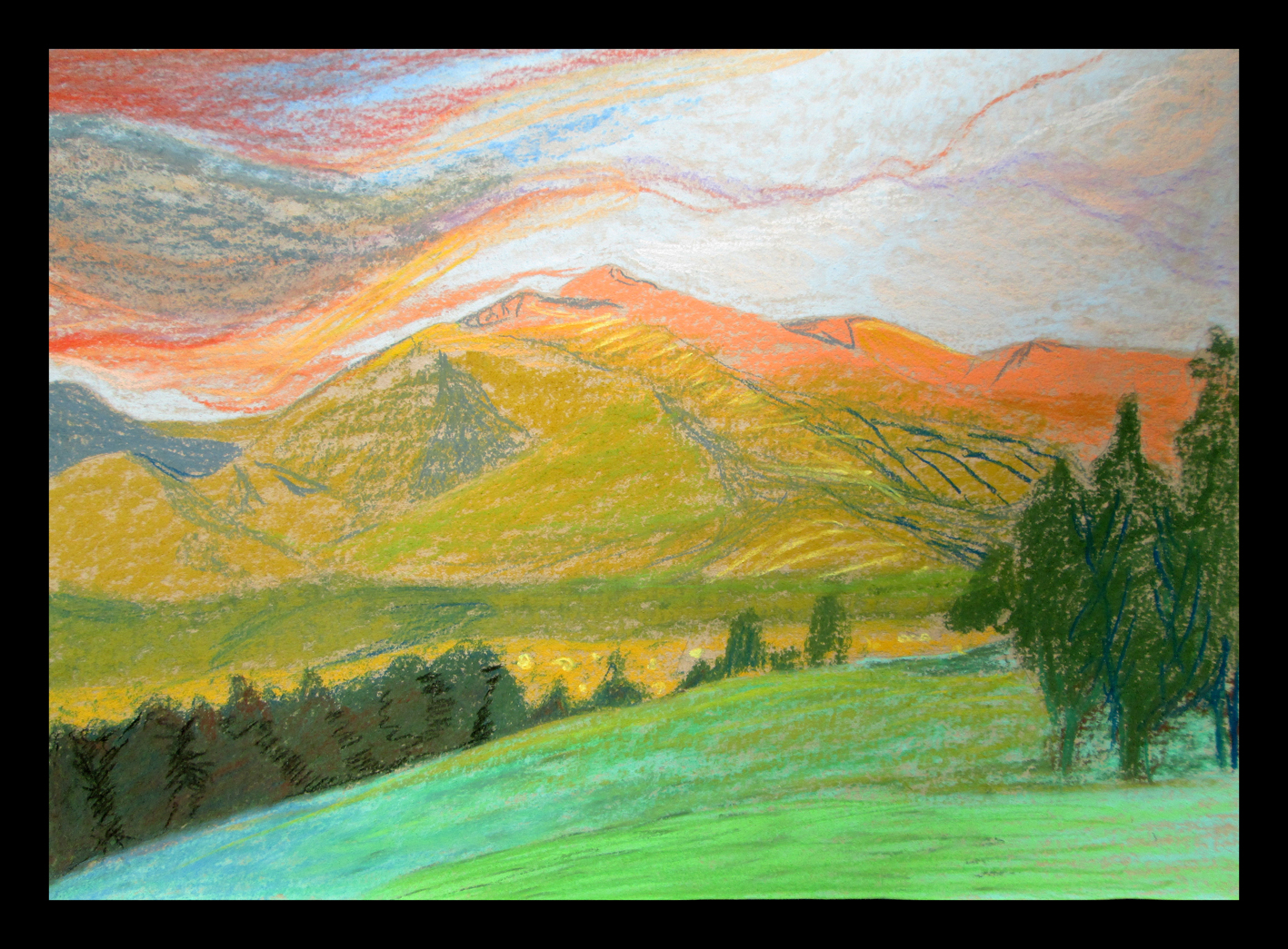 """Landscape in Germany"" 50cmX35cm"
