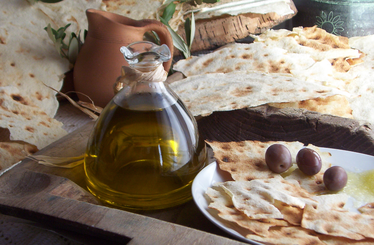 Olio, pane e olive