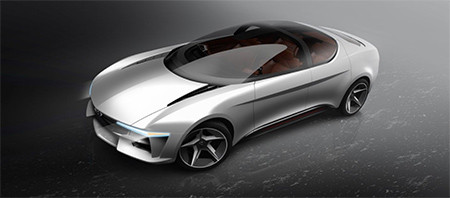 Image of the Envision EV concept car 2018 used in a blog post about concept car wrapping by Autowrap centre Liverpool