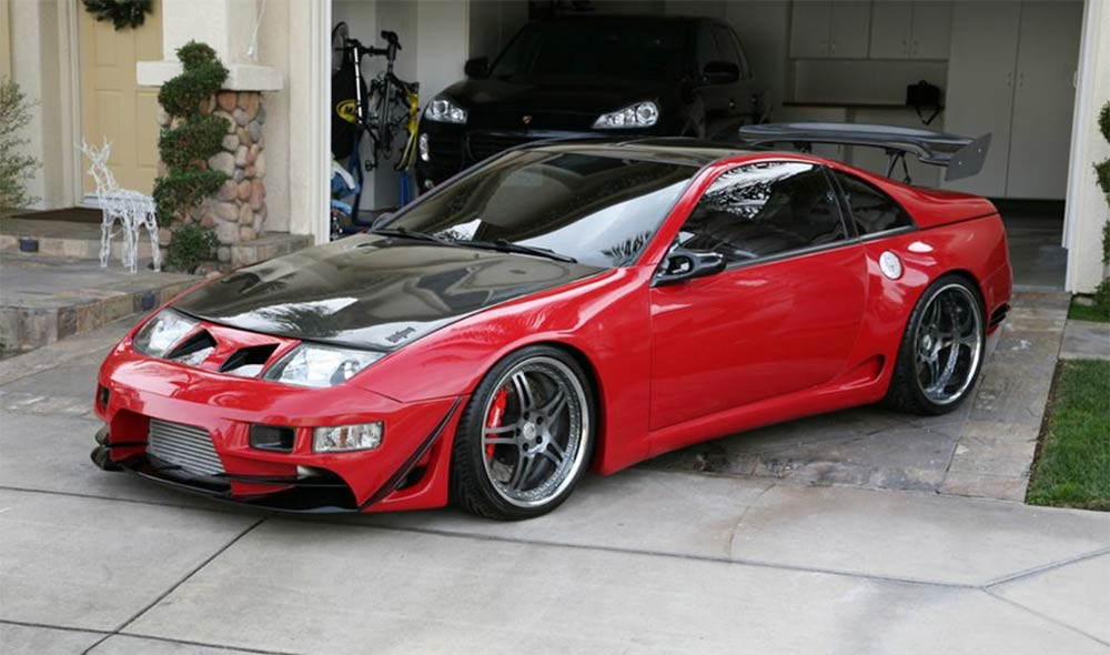 Image of a modded Nissan 300ZX used in a blog post about the best Japanese cars for under 5K that tune like beasts by Autowrap Centre Liverpool