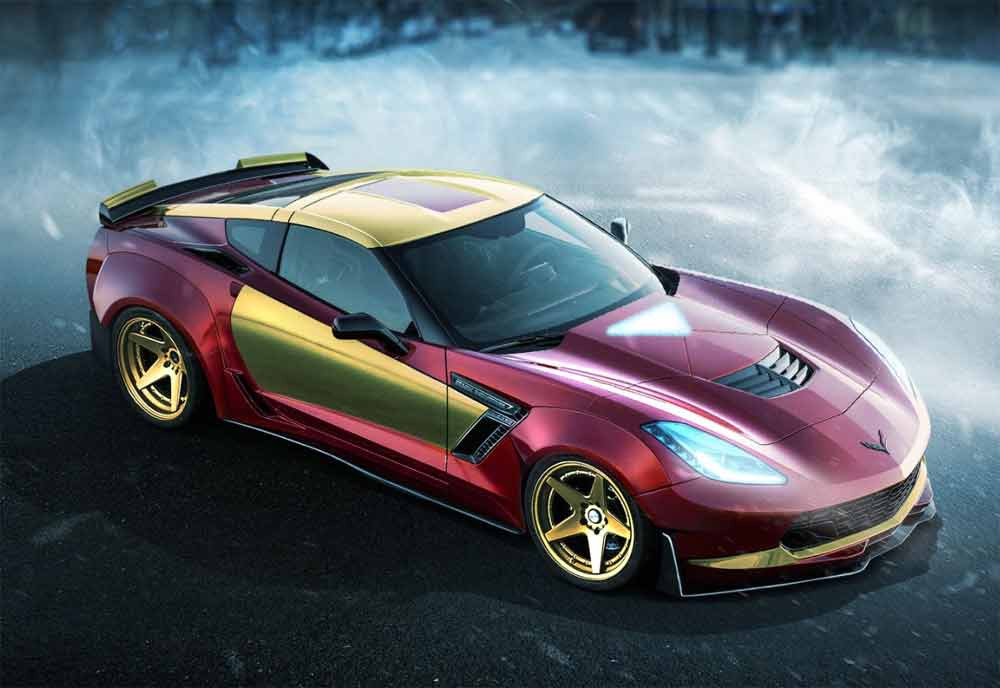 Image of an Iron Man custom car wrap used in a blog post about superhero car wraps from Autowrap Centre Liverpool