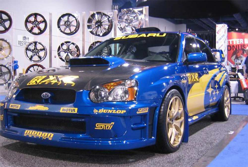 Image of a modded Subura WRX used in a blog post about tuning Japanese cars for under 5K by Autowrap Centre Liverpool
